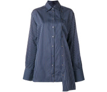 deconstructed striped shirt