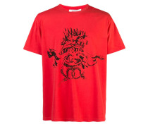 T-Shirt mit Monster-Print