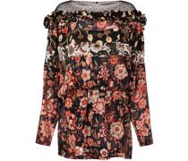 Florales Kleid mit Fledermausärmeln