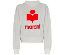 'Moby' Sweatshirt mit Logo-Print