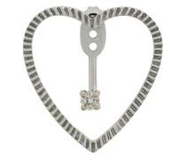18kt 'Heart' Goldohrringe mit Diamanten