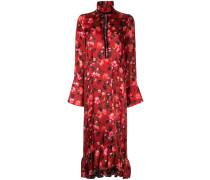 Kleid mit Mohnblumen-Print