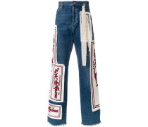 Jeans in Patchwork-Optik