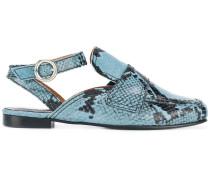 Loafer mit Schlangenledereffekt