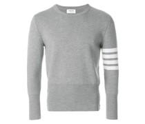 4-Bar Stripe Milano-Stitched Merino Crewneck Pullover