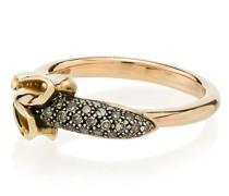 18k rose gold Monkey Banana diamond ring