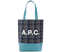 A.P.C. Karierter Shopper