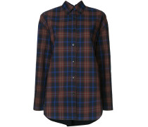 checked back ruffle shirt