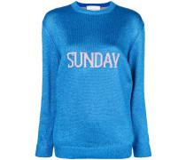 'Sunday' Intarsien-Strickpullover