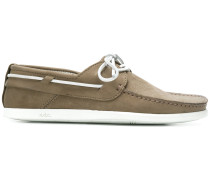 contrast lace boat shoes