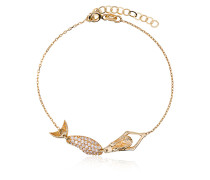 18k yellow gold mermaid diamond bracelet