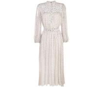 Chiffon-Kleid mit Print