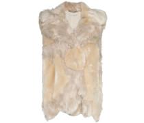 faux fur gilet jacket