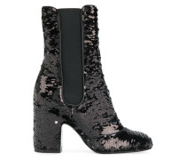 sequin embroidered boots
