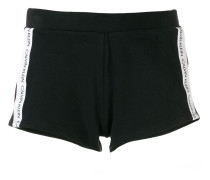 logo print stripe shorts