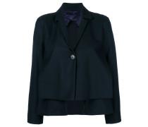 cropped pleat blazer