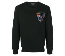 Sweatshirt mit Totenkopf-Stickerei