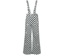 G.V.G.V. dungaree-style checkered trousers