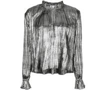 metallic loose-fit blouse