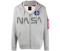 Kapuzenjacke mit NASA-Print