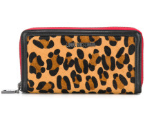 leopard print zip-around wallet