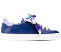 Sneakers mit Twill-Schnürsenkeln