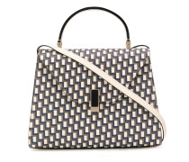 Gemusterte Handtasche