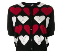 Cardigan mit Herzmuster