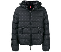 scatter printed puffed jacket