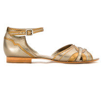 flat panelled sandals