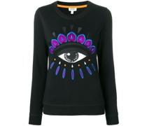 """Sweatshirt mit """"Evil Eye""""-Stickerei"""