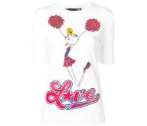 T-Shirt mit Cheerleader-Print