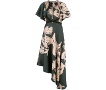 abstract-print asymmetric dress