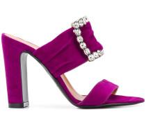 front crystal embellished sandals