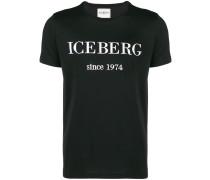 T-Shirt mit Logo-Stickerei