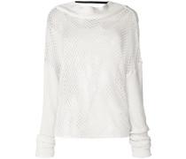 Oversized-Pullover in Netzoptik