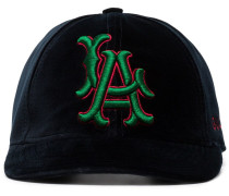 blue, red and green LA Angels patch velvet baseball cap