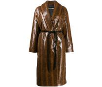 Oversized-Mantel mit Bindegürtel