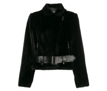 fitted belted jacket