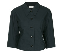 cropped button shirt