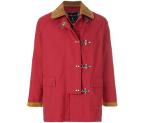 Mantel mit kontrastierendem Kragen