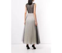 A-Linien-Kleid mit Netzeinsatz