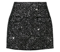 crystal embellished mini skirt