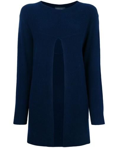 Pullover mit vorderem Schlitz