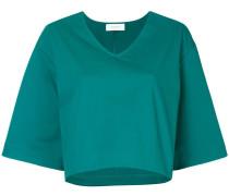 Ausgestelltes Cropped-T-Shirt