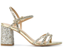 glitter ankle sandals