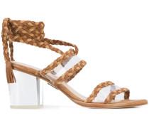 'Velvet' Sandalen mit Blockabsatz