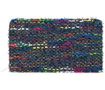 knit tweed large wallet