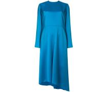 asymmetric hem bow-back dress