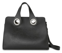 The Leather Crest Grommet Detail Tote